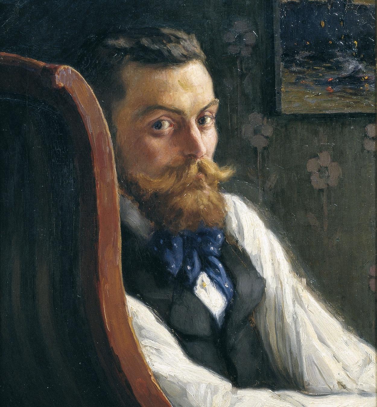 Marià Pidelaserra - Portrait of the Painter Pere Ysern - Paris, 1900