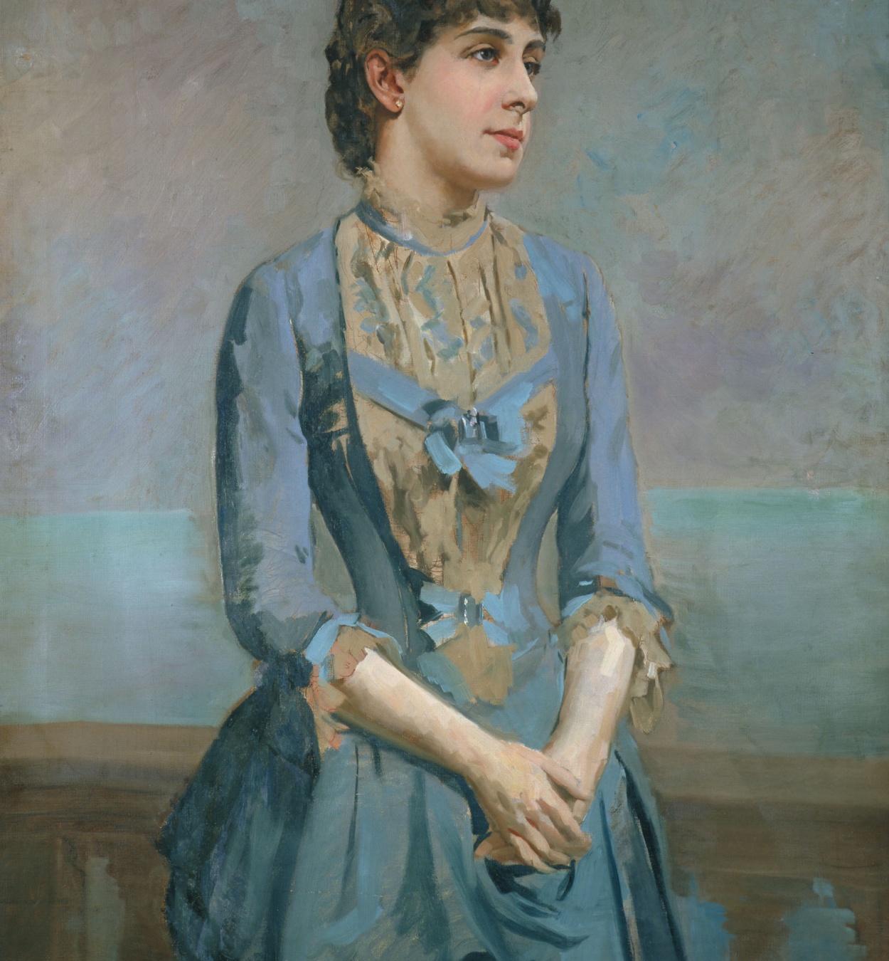 Antoni Caba - Retrat de Lluïsa Dulce i Tresserra, marquesa de Castellflorite - Cap a 1880