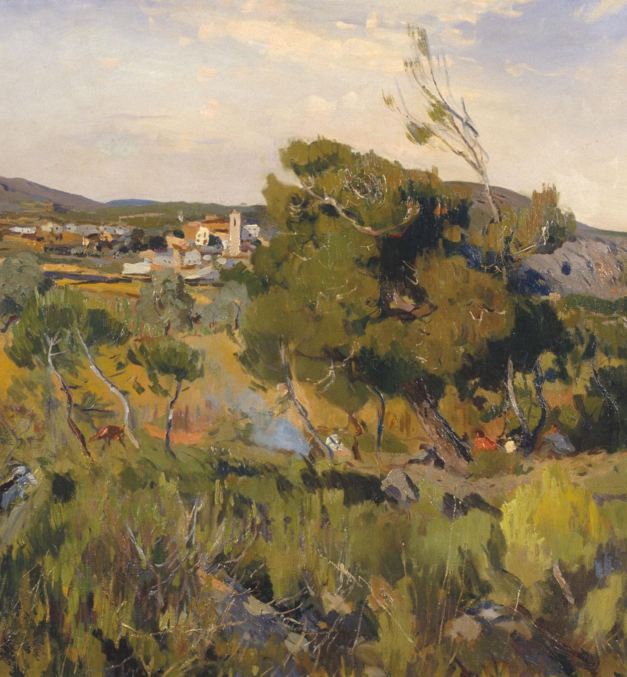 Joaquim Mir - Canyelles Landscape - Circa 1922-1930