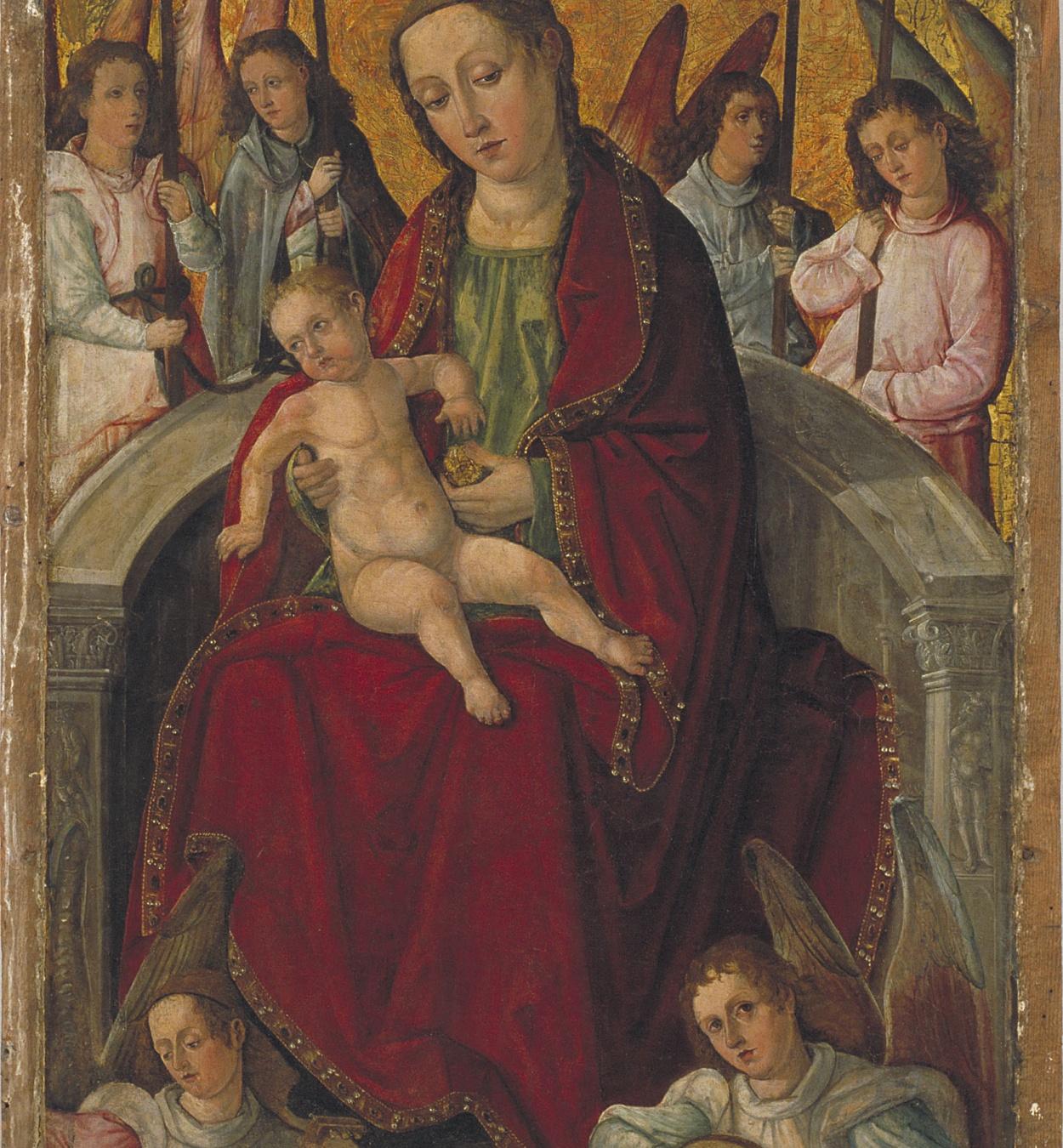 Francesc d'Osona - Mare de Déu - Cap a 1500-1505