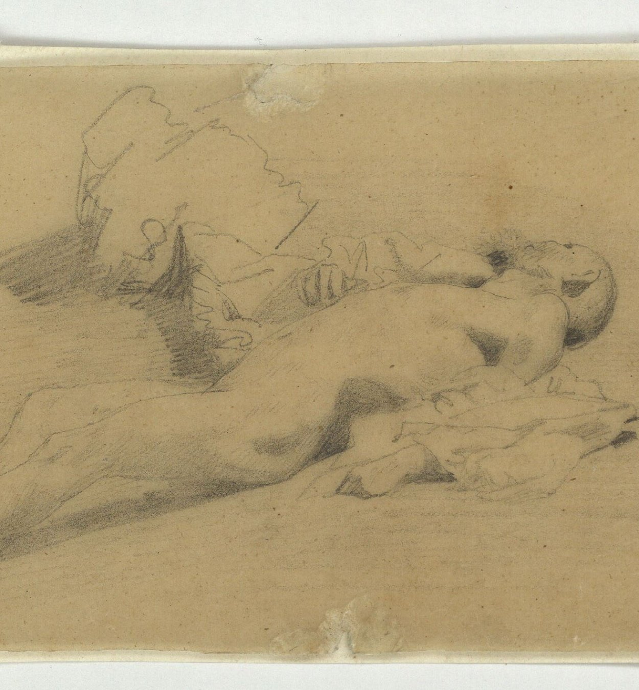 Marià Fortuny - Dead Moroccan. Study for the picture 'The Battle of Tetouan' - Circa 1860