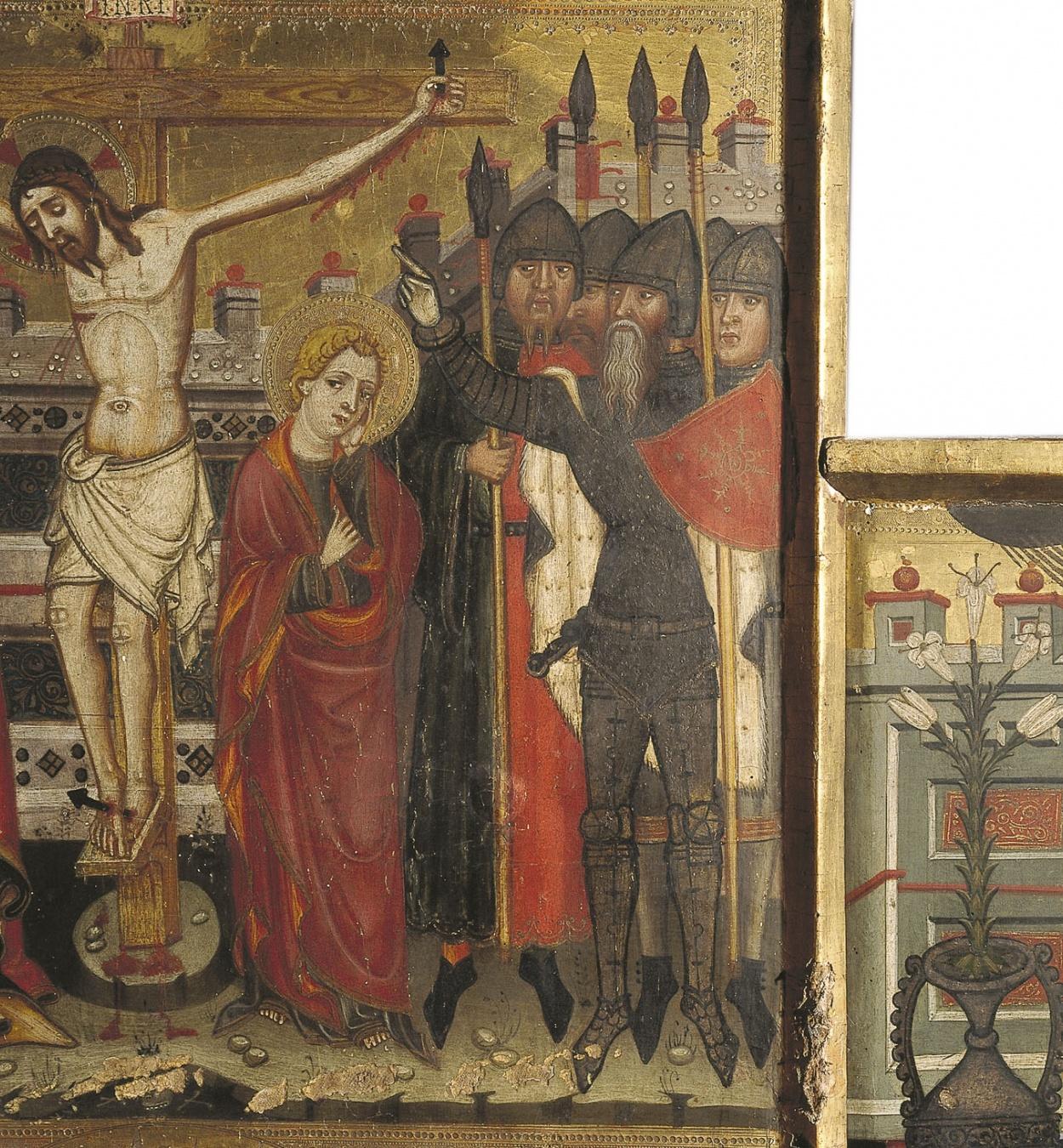 Llorenç Saragossà - Retaule de la Mare de Déu de la Llet, santa Clara i sant Antoni Abat - Últim quart del segle XIV [1]