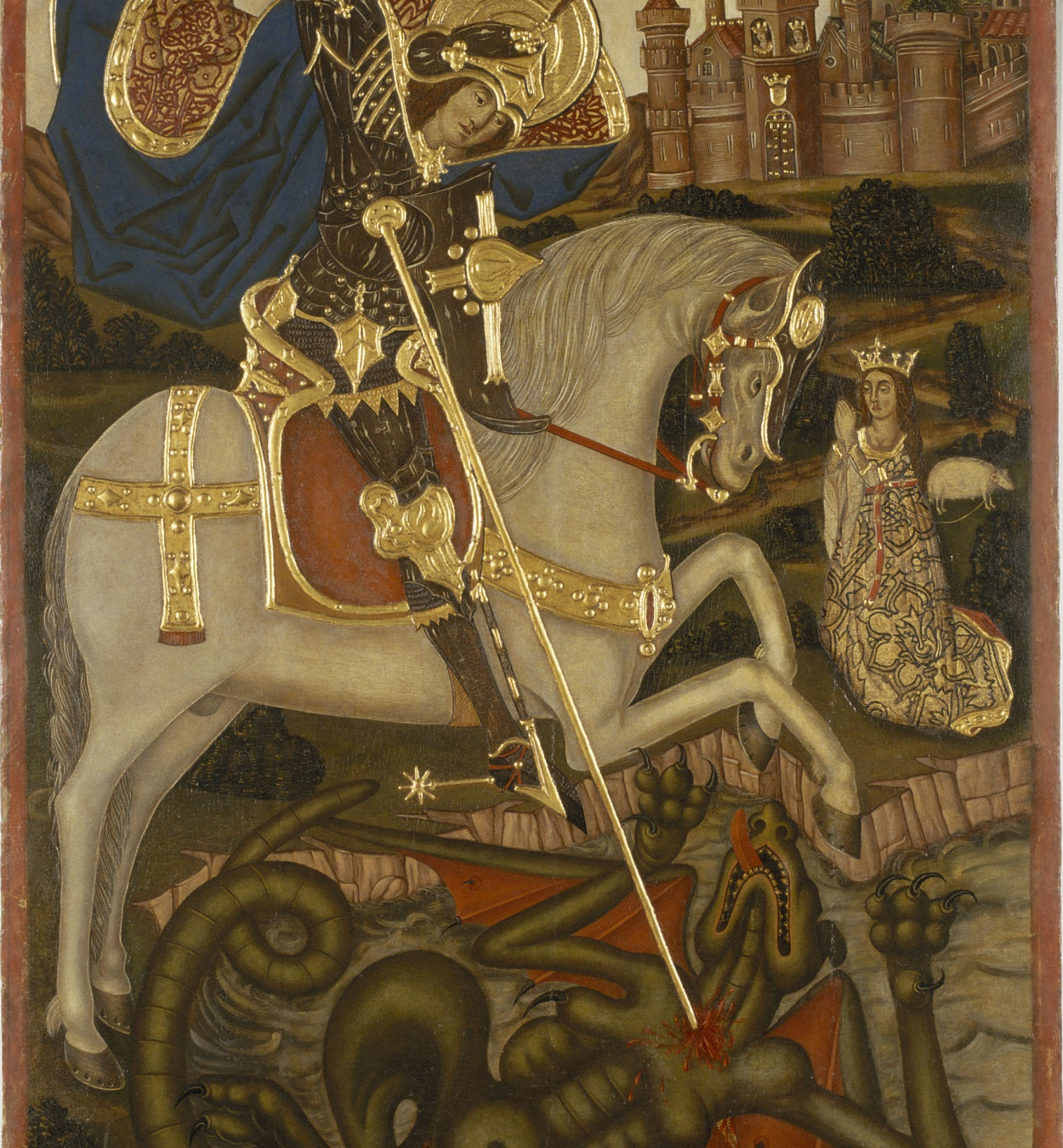Anònim. Catalunya - Saint George Slaying the Dragon - End of 15th century
