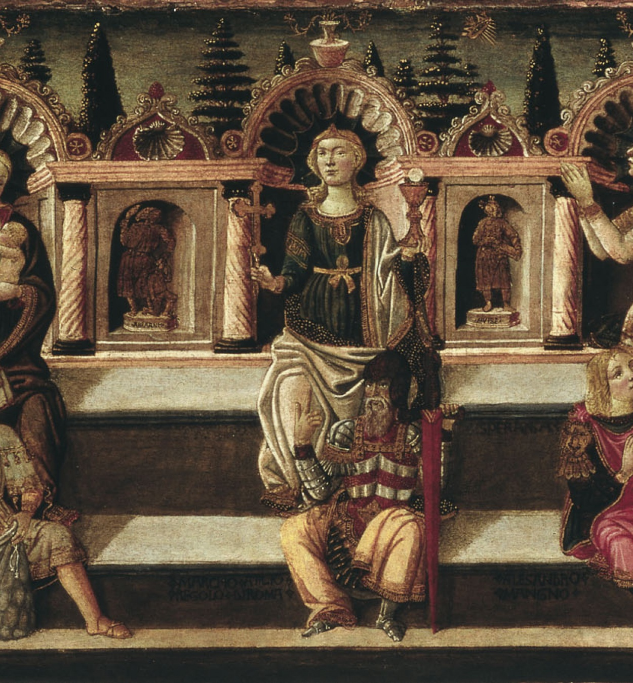 Anton Francesco dello Scheggia - Les set Virtuts - 1465-1470