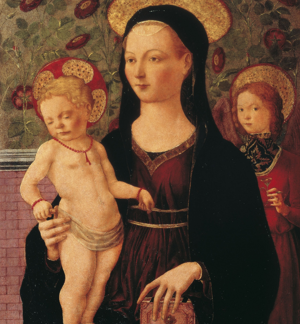 Francesco del Cossa - Mare de Déu amb el Nen Jesús i un àngel - Cap a 1460