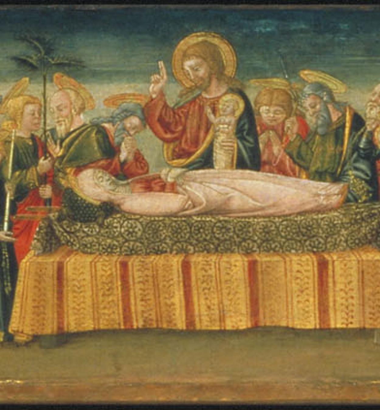 Neri di Bicci - Sant Llorenç, sant Miquel i el drac, Dormició de la Mare de Déu, martiri de santa Caterina i sant Joan Evangelista - 1475-1480
