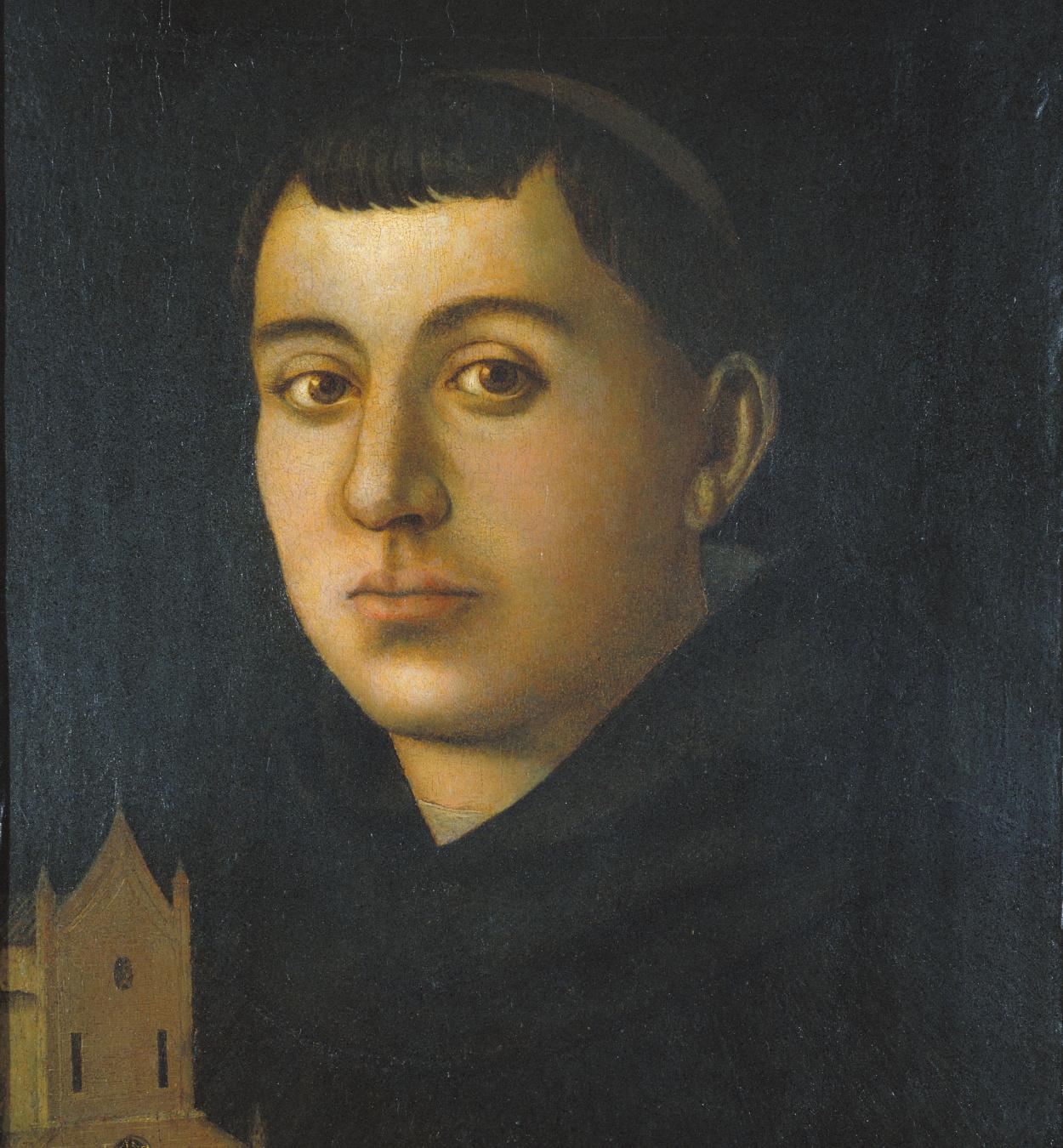 Bartolomeo degli Erri - Sant [?] monjo amb el model d'una església - Cap a 1480