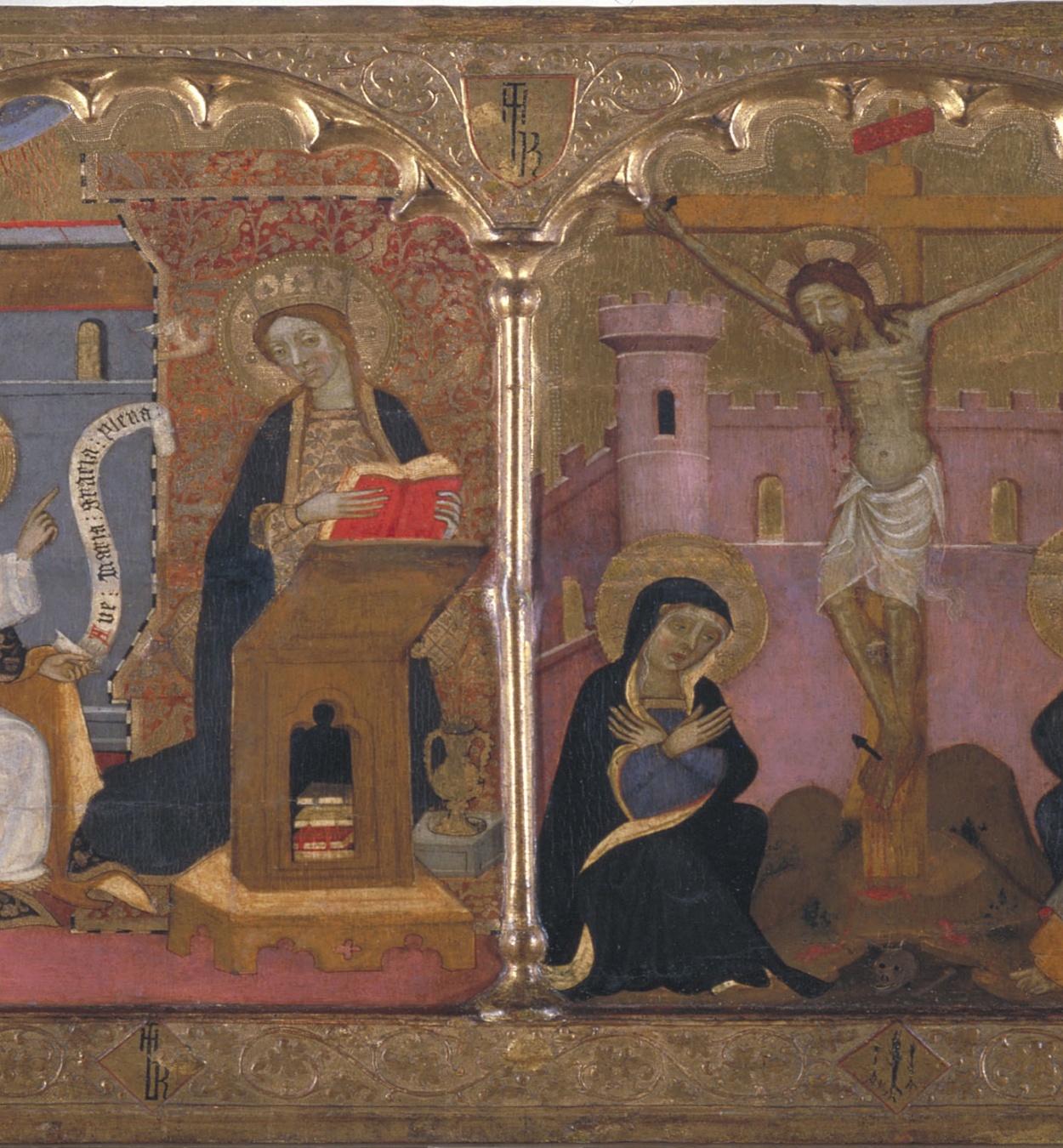 Francesc Comes - Sant Joan Baptista; Anunciació; Crucifixió; Santa Caterina d'Alexandria - Cap a 1400