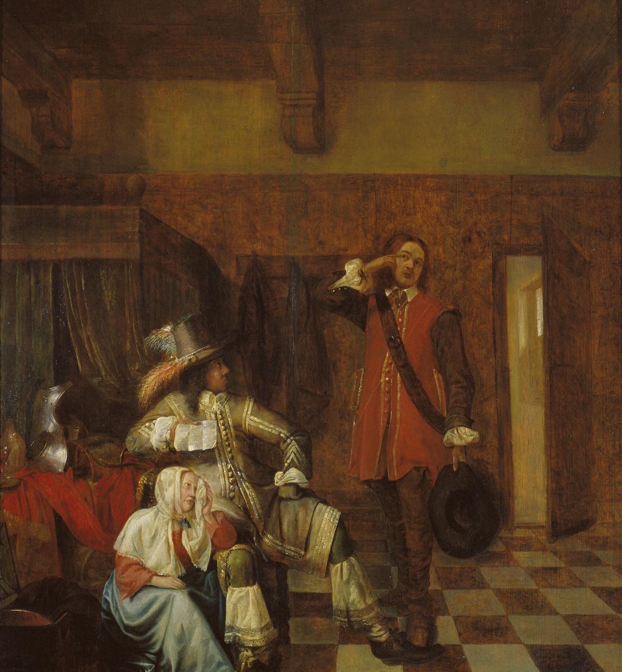 Pieter de Hooch - El portador de males notícies - Cap a 1655