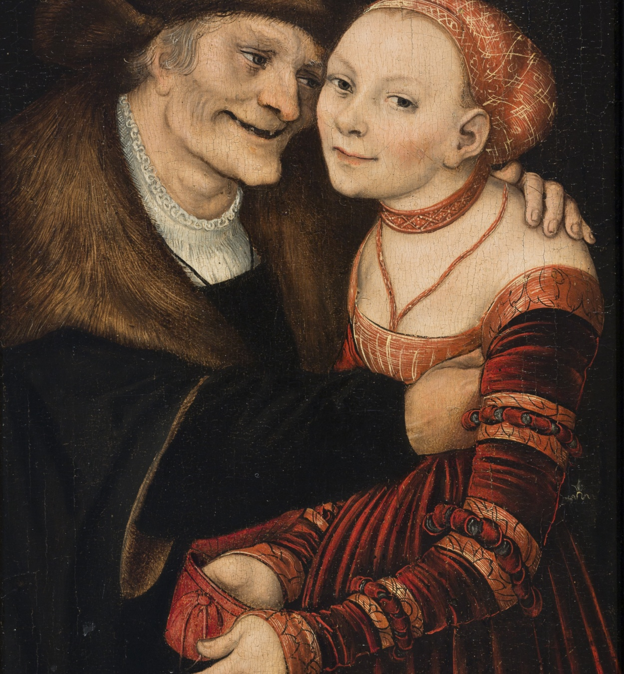 Lucas Cranach (el Vell) - Parella amorosa desigual - 1517