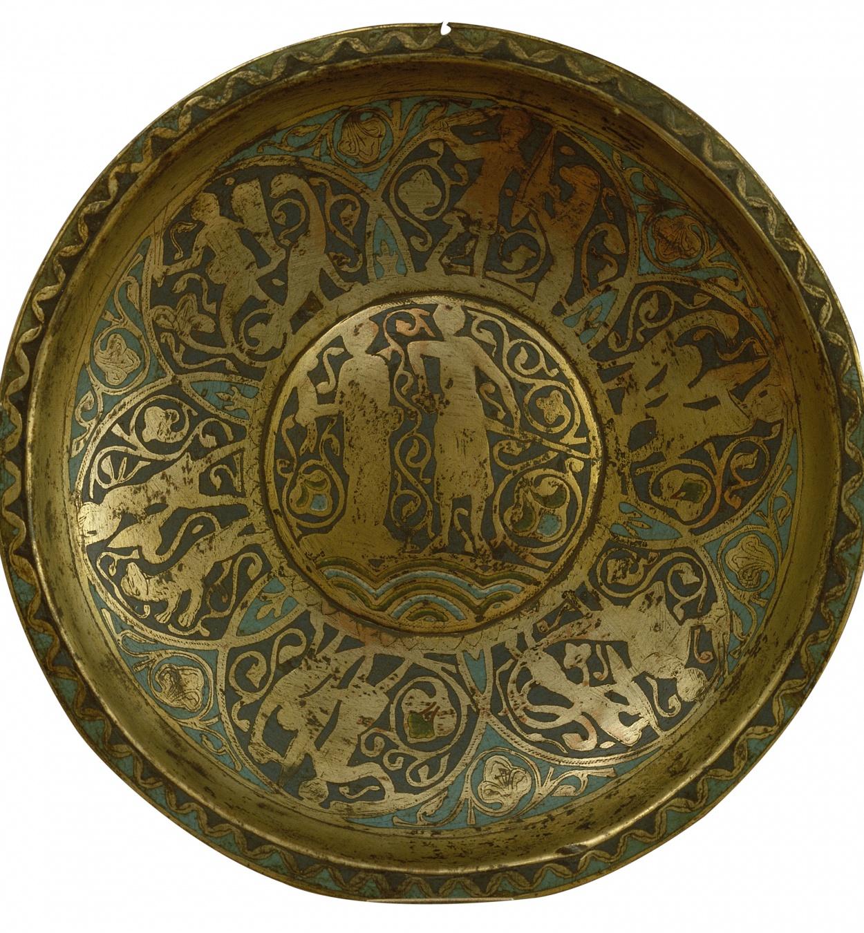 Anònim. França. Llemotges - Rentamans amb dama i cavaller - Finals del segle XIII
