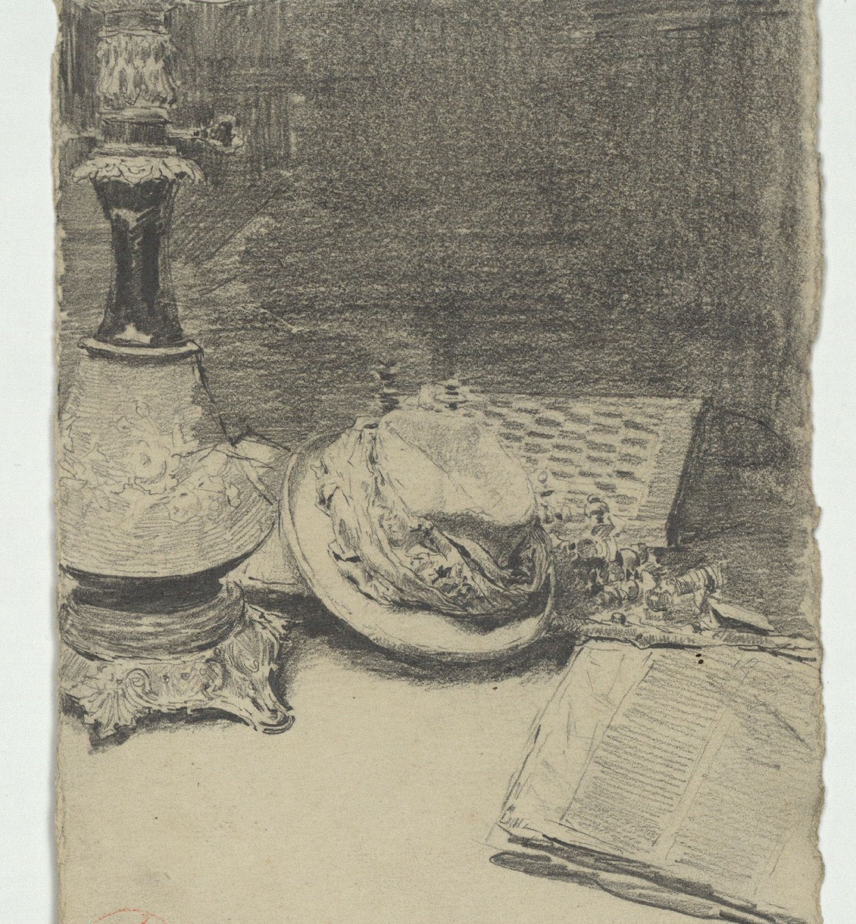 Marià Fortuny - Still life with hat - Circa 1863-1866