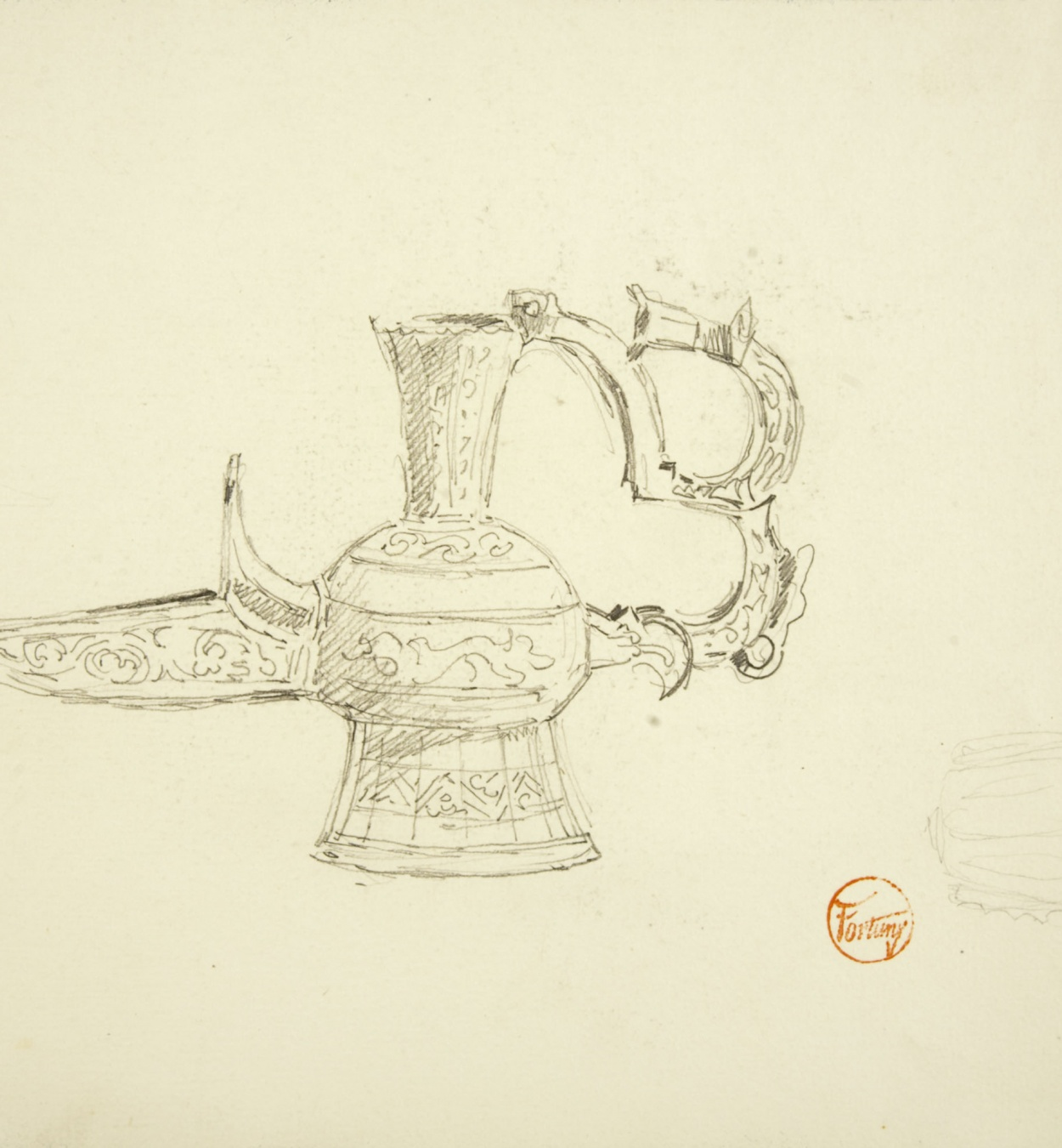 Marià Fortuny - Muslim-style lamp - Circa 1870-1872