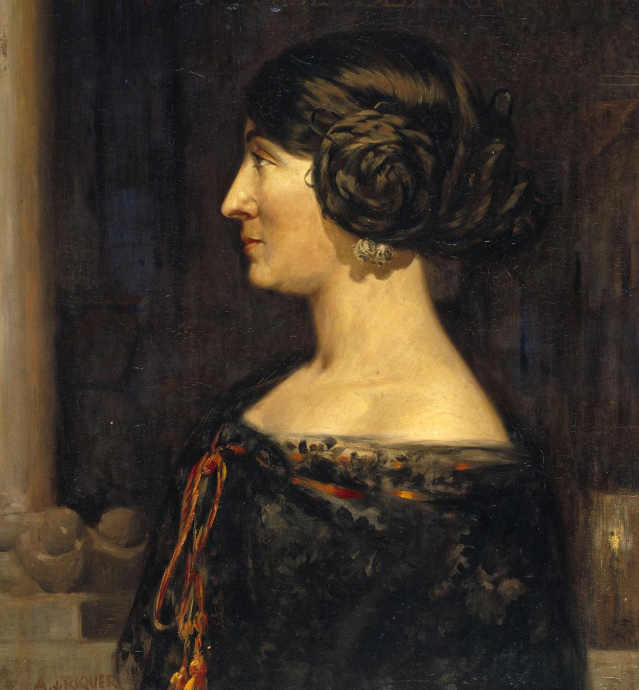 Alexandre de Riquer - Portrait of the writer Margarida Laborde (Andrée Bearn-Hein) - 1911