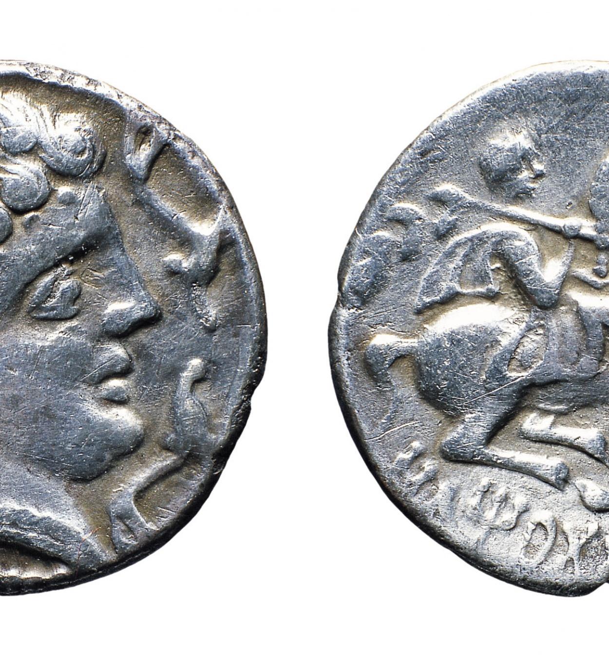 Iltirta - Denari - Mitjan segle II aC