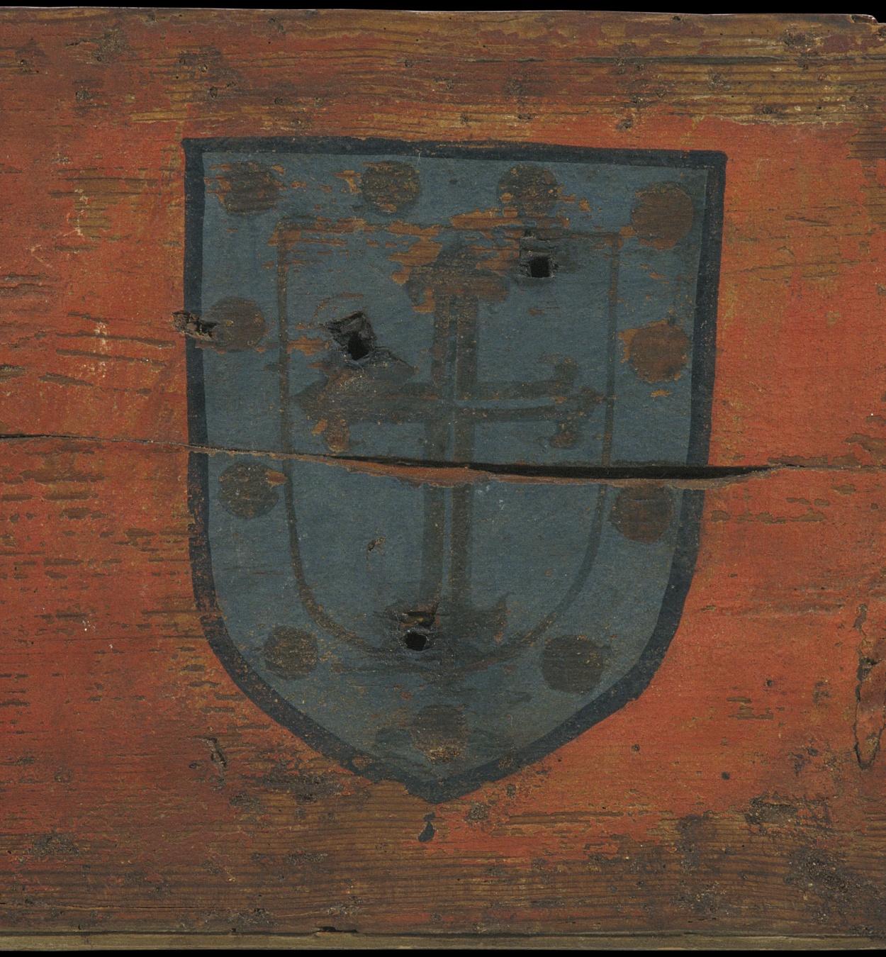 Anònim. Castella - Tauleta d'enteixinat amb escut - Primera meitat del segle XIV