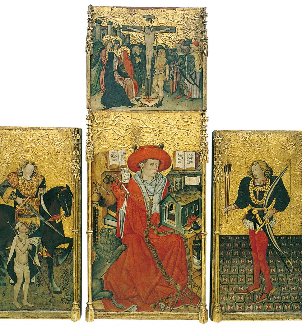 Jaume Ferrer - Retaule de sant Jeroni, sant Martí i sant Sebastià - Cap a 1450