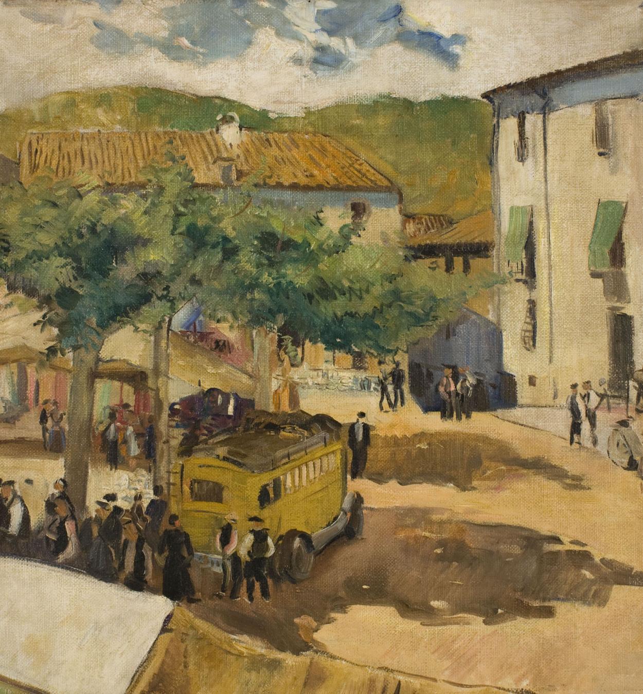 Oleguer Junyent - Santa Coloma. The Market - 1933
