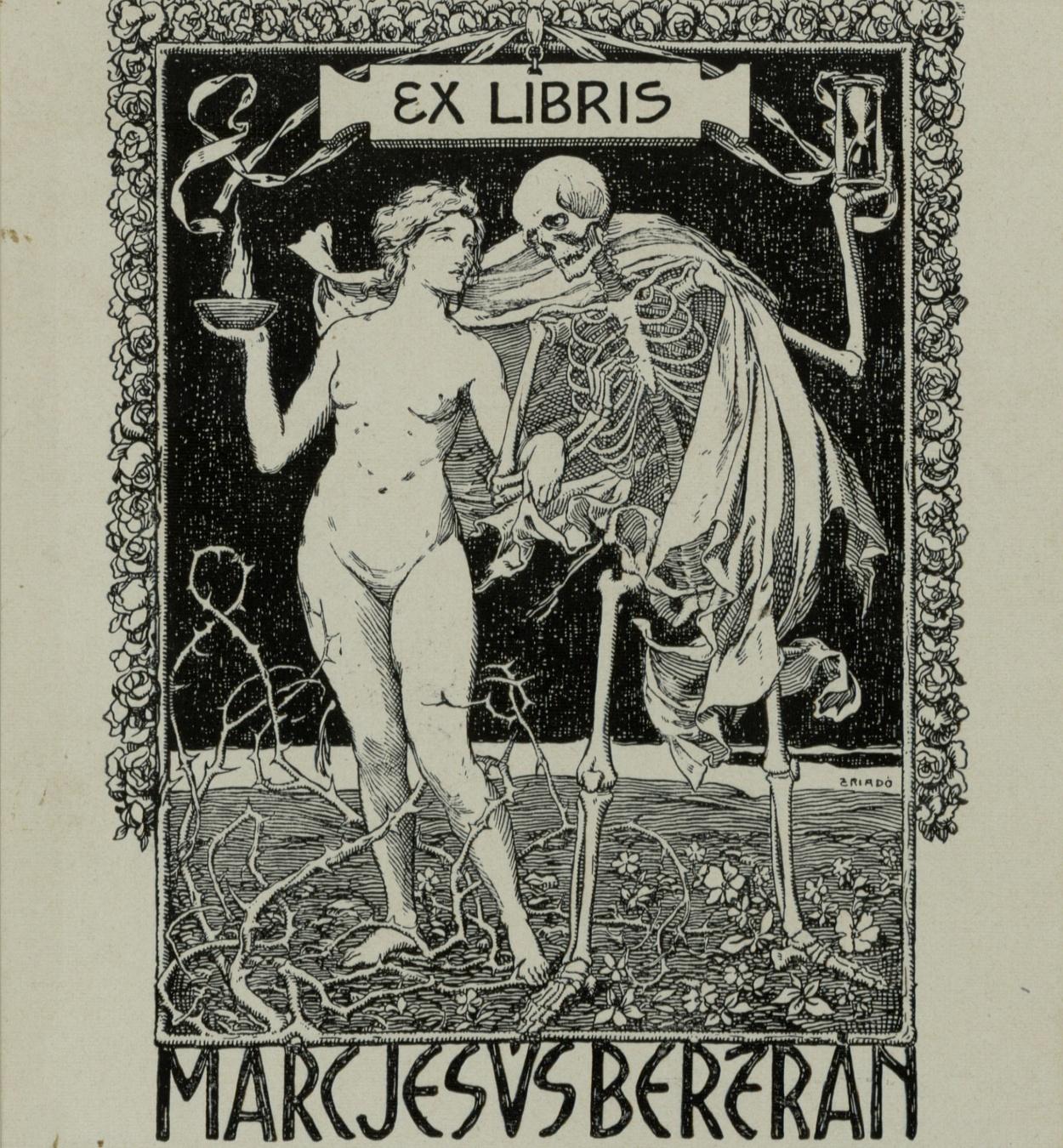 Josep Triadó - Book-plate Marc Jesús Bertrán - 1901