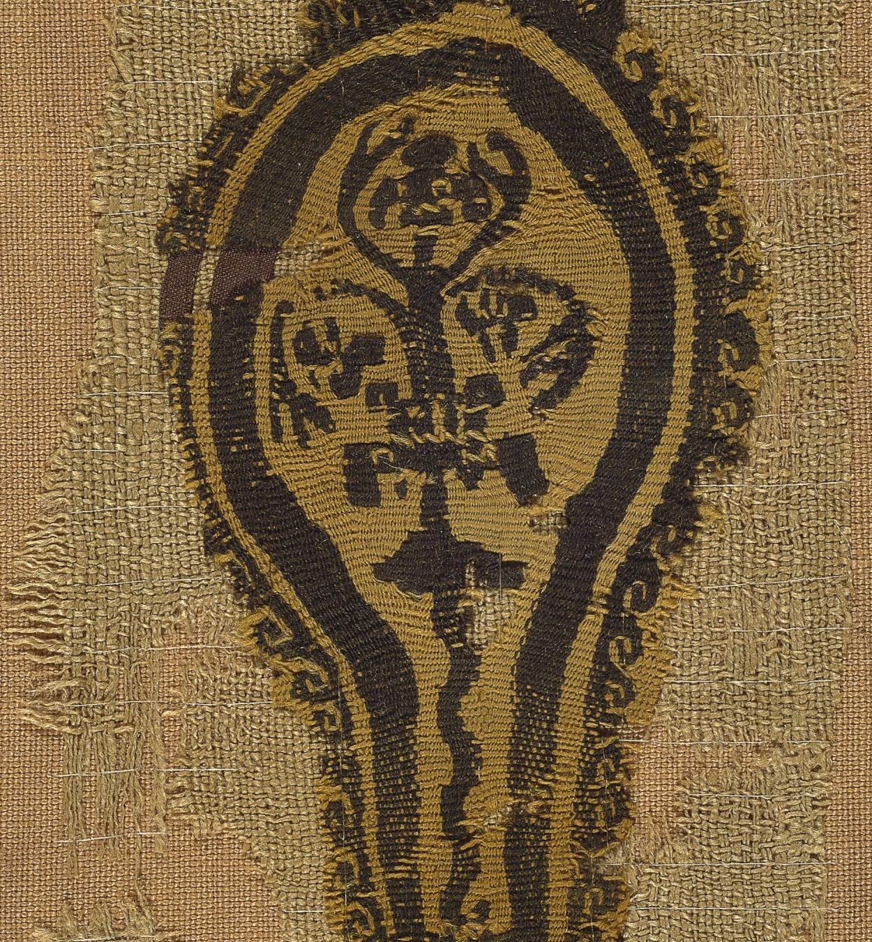 Anònim - Fragment de teixit copte amb l'arbre de la vida - Egipte, segles VIII-X