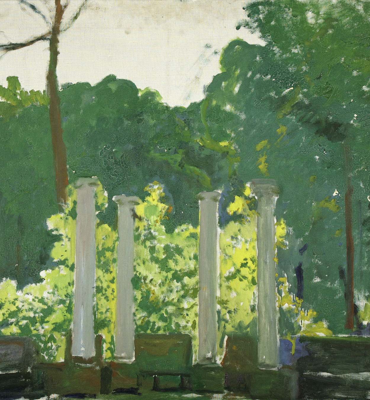 Santiago Rusiñol - Landscape. Aranjuez (unfinished work) - 1931