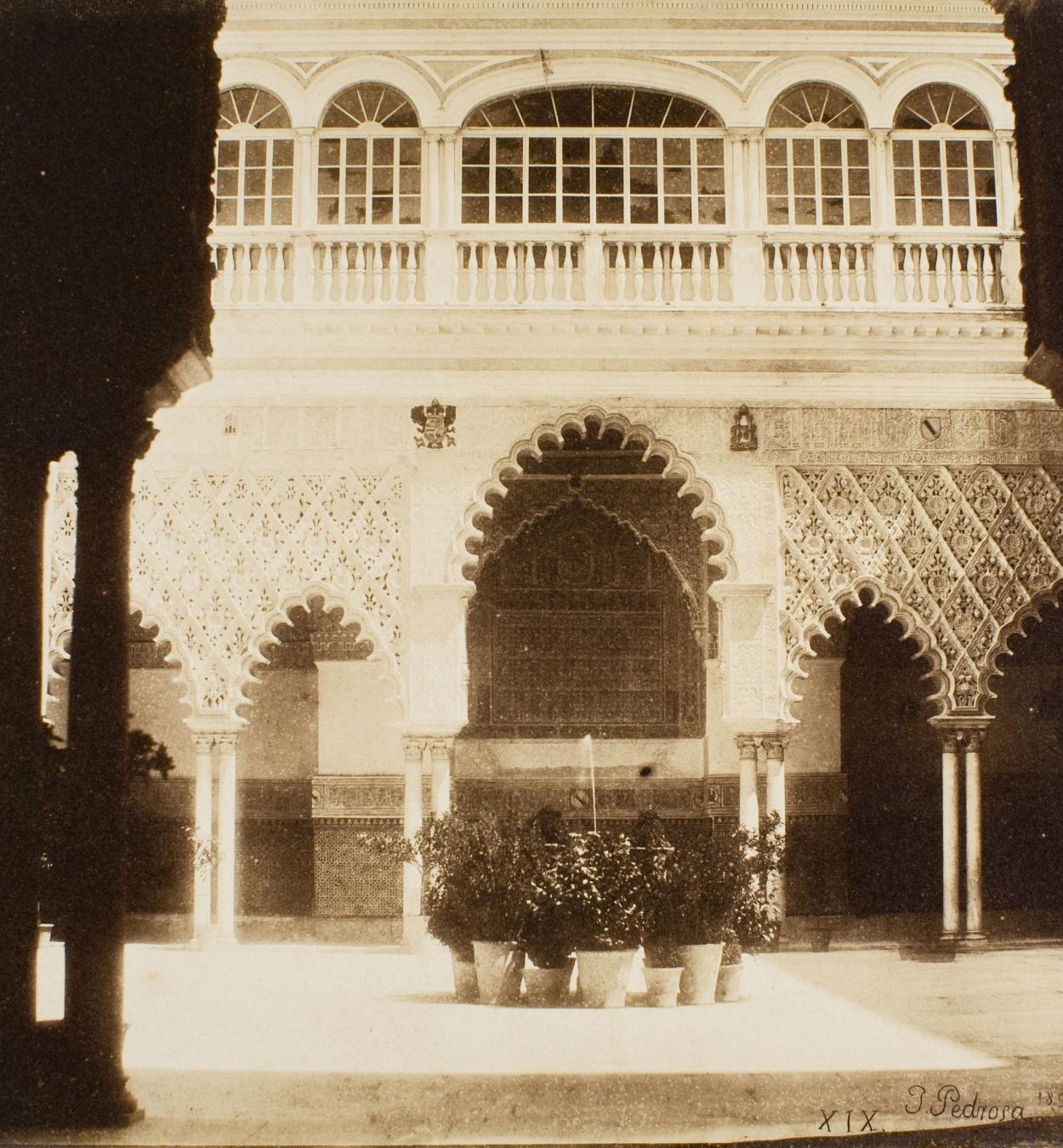 Joaquim Pedrosa - Alcázar de Sevilla. Patio de las doncellas - 1857