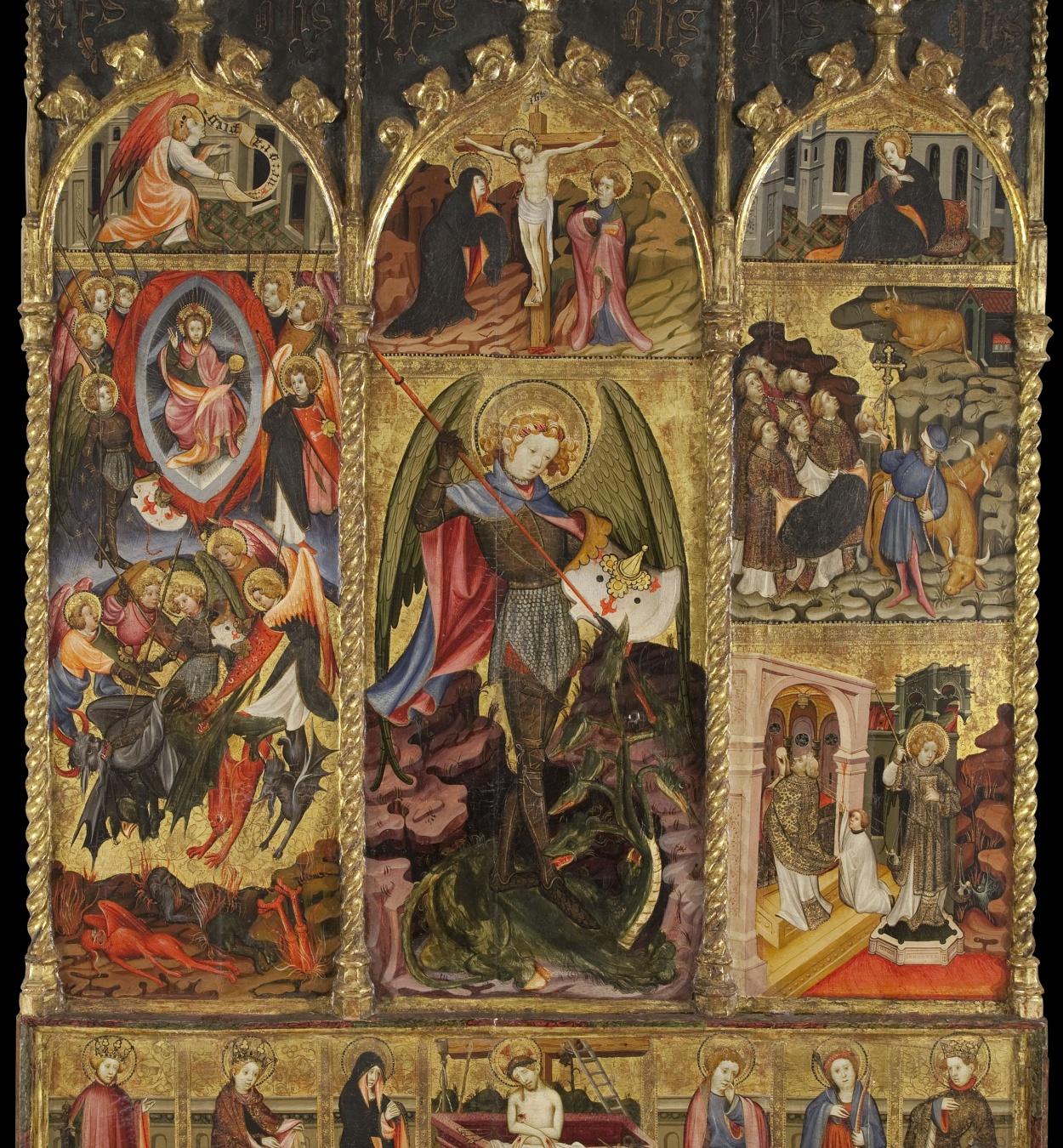 Joan Mates - Altarpiece of Saint Michael the Archangel - First quarter of 15th century