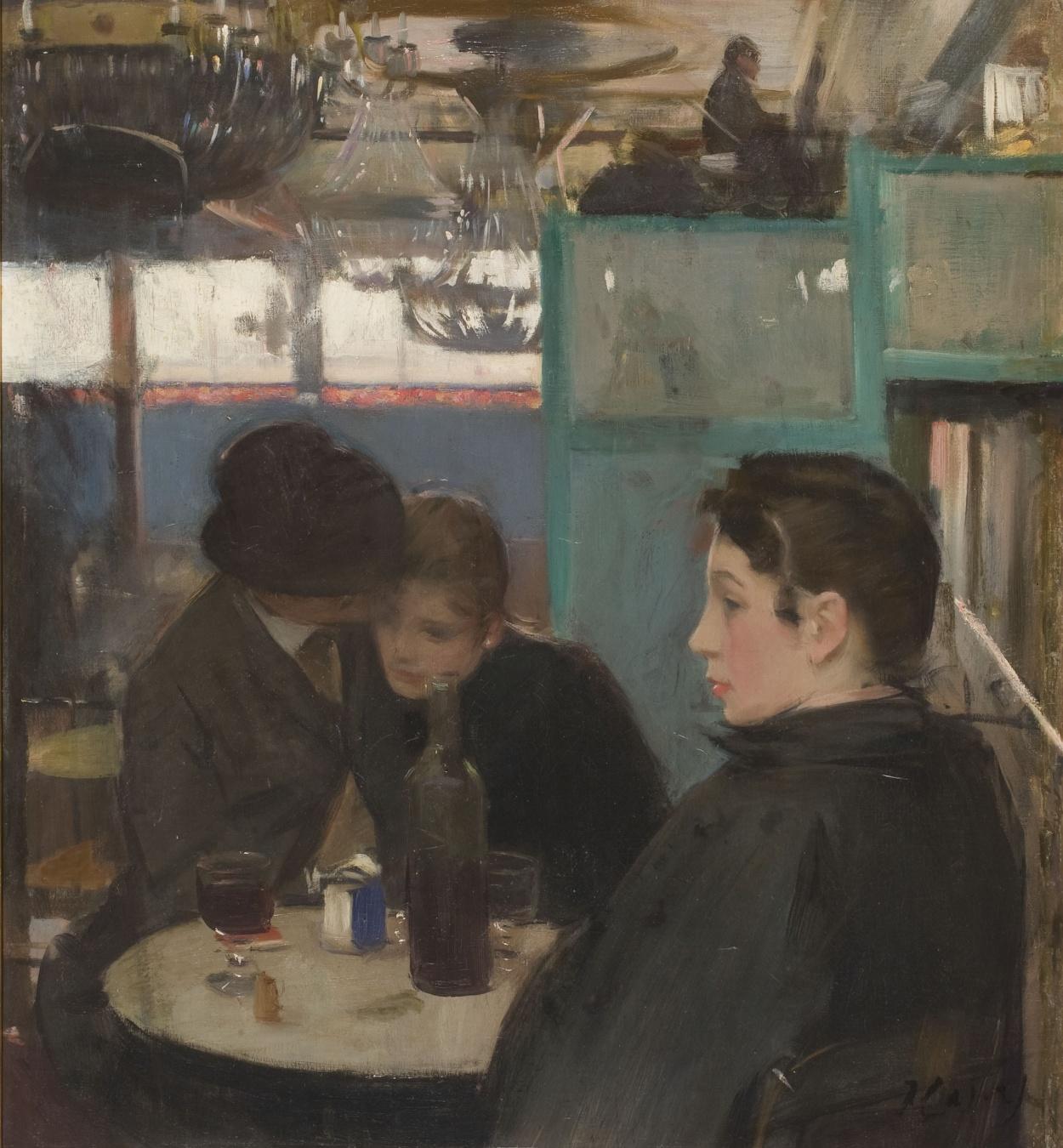 Ramon Casas - Interior del Moulin de la Galette - Hacia 1890-1891