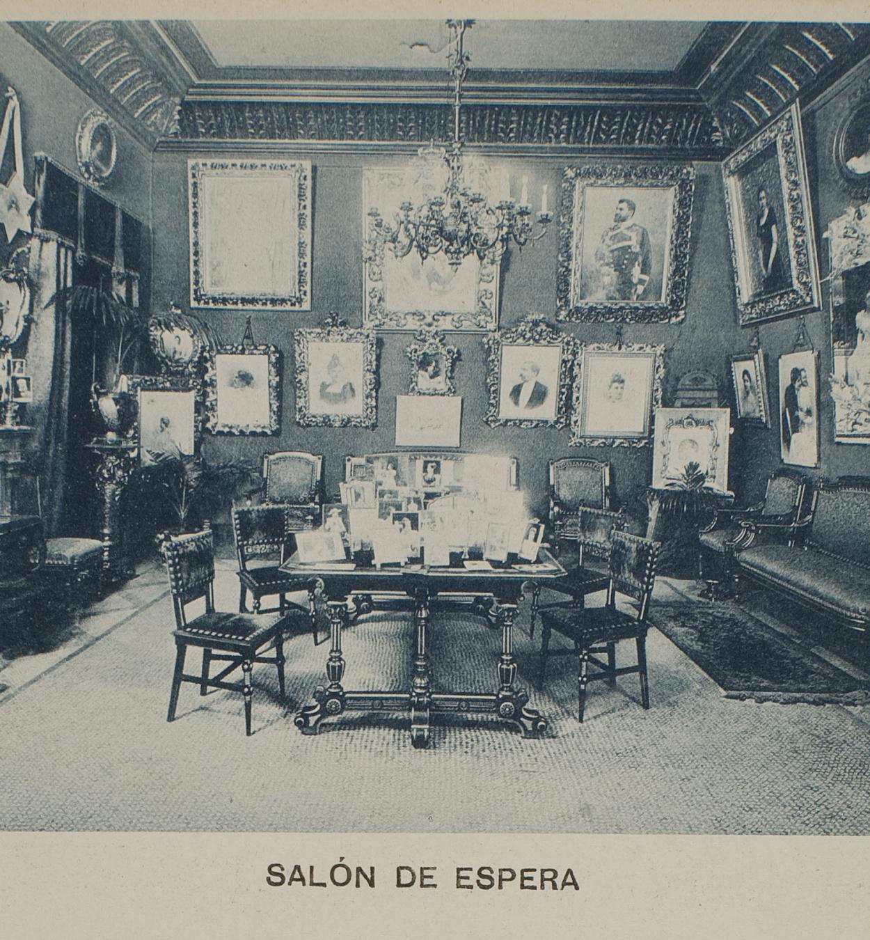 Napoleón. Establecimiento de daguerrotipo y fotografía. Barcelona - Napoleón photographic studio. Waiting room - 1895