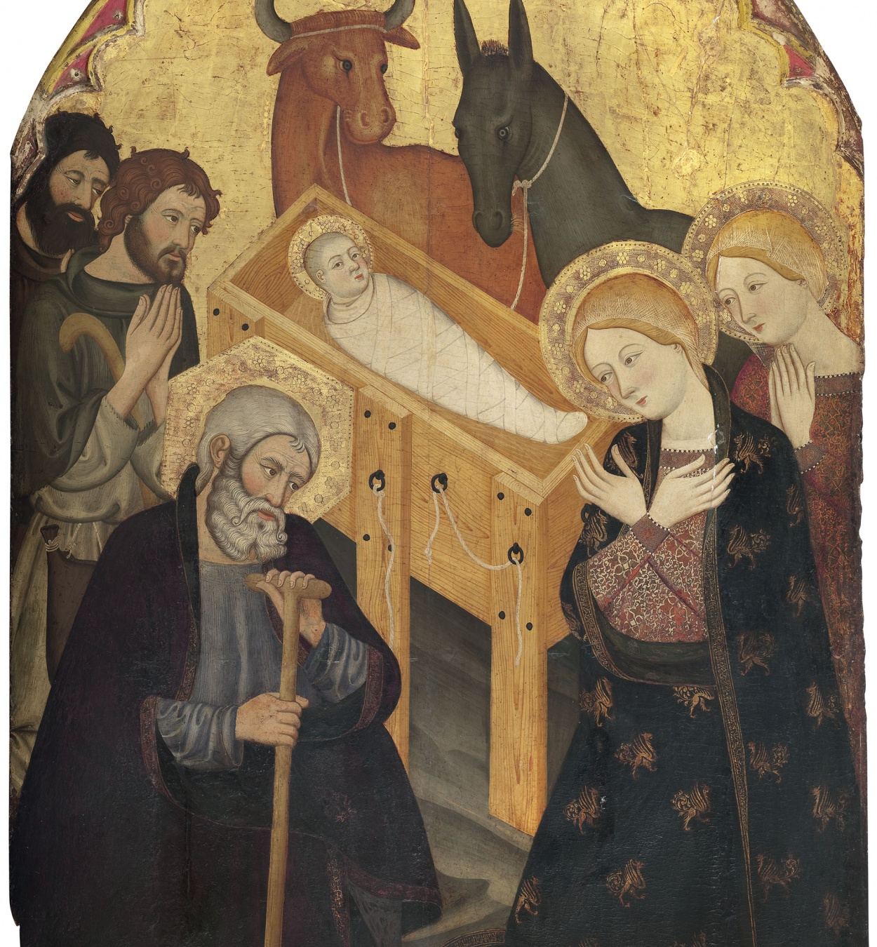 Taller dels germans Serra - Adoration of the Shepherds - Circa 1365-1375