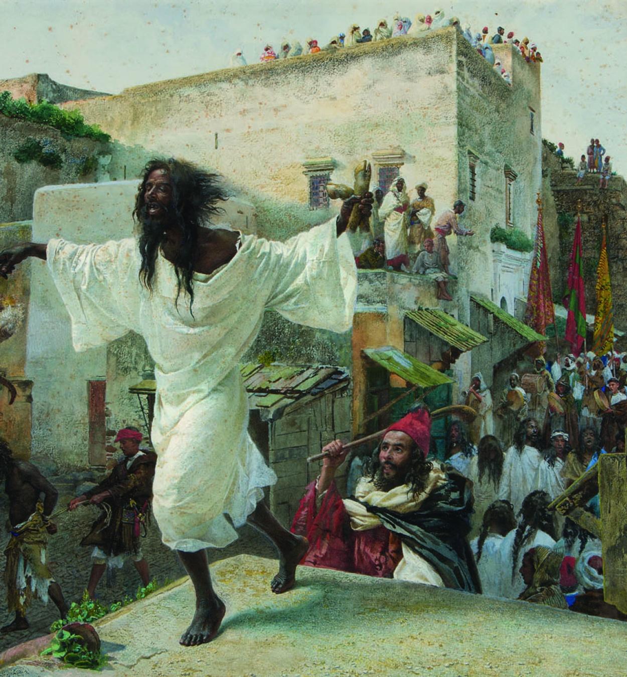 Josep Tapiró. Fiesta de los issawa, c. 1885. Colección particular, Reus