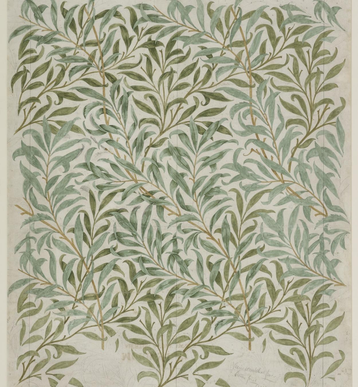 William Morris. Disseny per al paper pintat Willow Bough (branca de salze). 1887 © The Whitworth, The University of Manchester