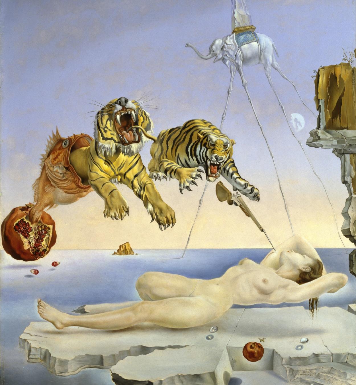 Salvador Dalí. Somni causat pel vol d'una abella al voltant d'una magrana un segon abans de despertar © Salvador Dalí, Fundació Gala-Salvador Dali, VEGAP, Barcelona, 2018