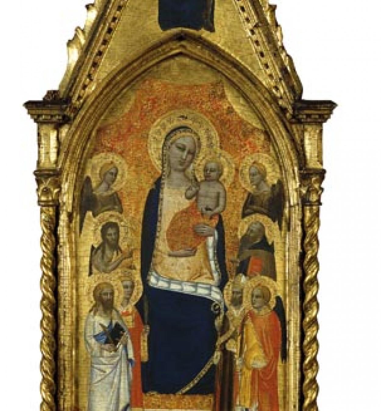 Niccolò di Tommaso - Mare de Déu i el Nen entre àngels i sis sants - 1362-1367