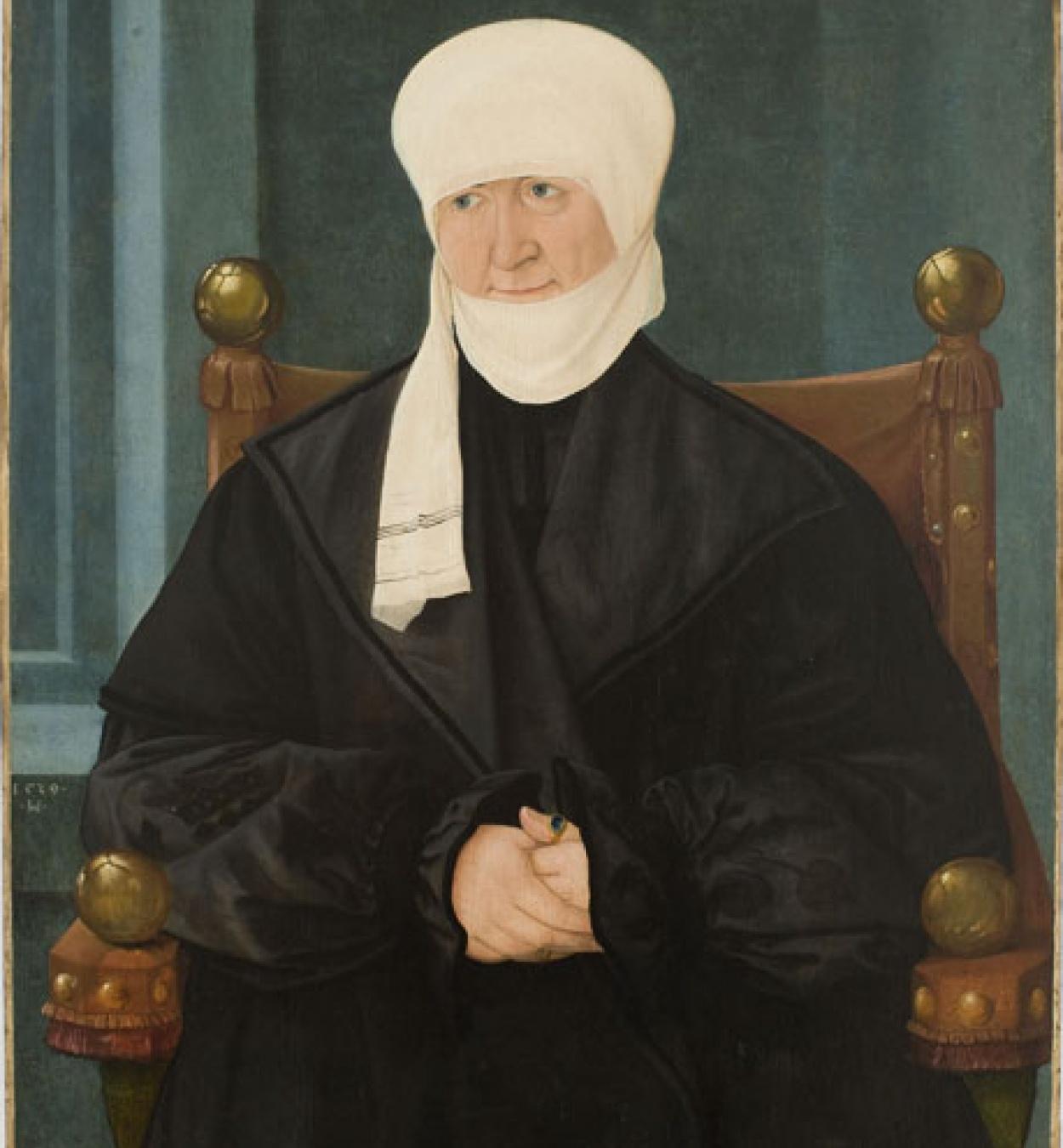 Hans Mielich - Retrat d'una dona de 57 anys - 1539