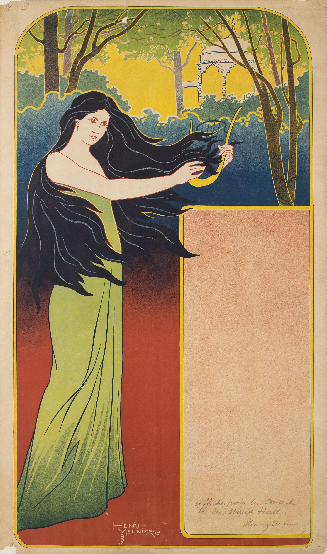 Henri Meunier - [Affiche pour Les concerts du Waux-Hall] - 1897