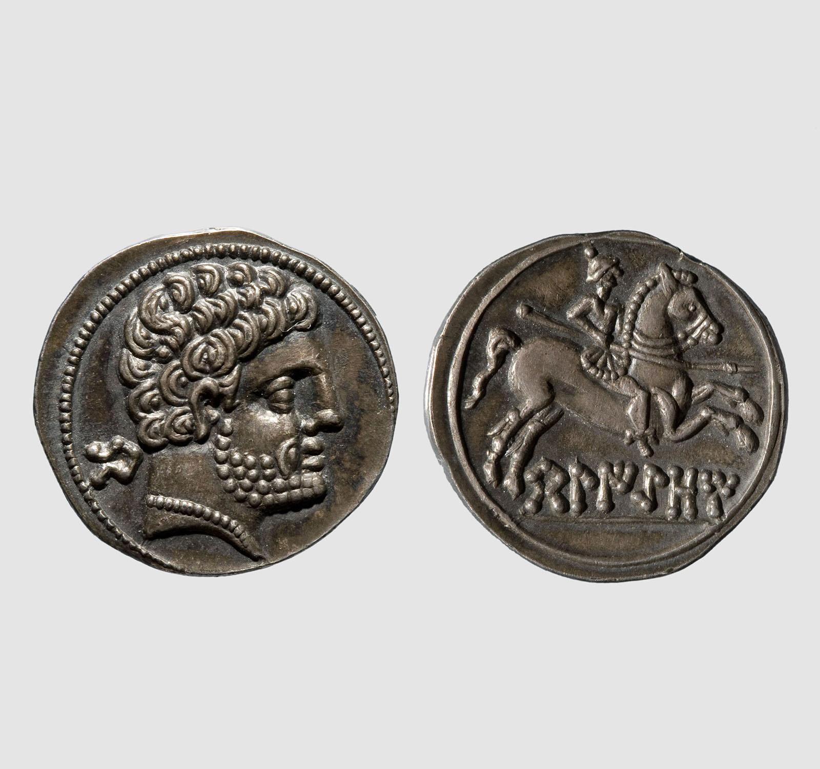 Denari de Belikiom, segona meitat del segle II aC – inicis del segle I aC