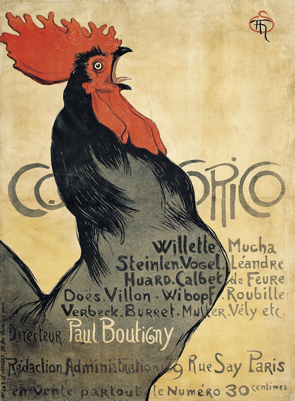Théophile Alexandre Steinlen - Cocorico - 1899