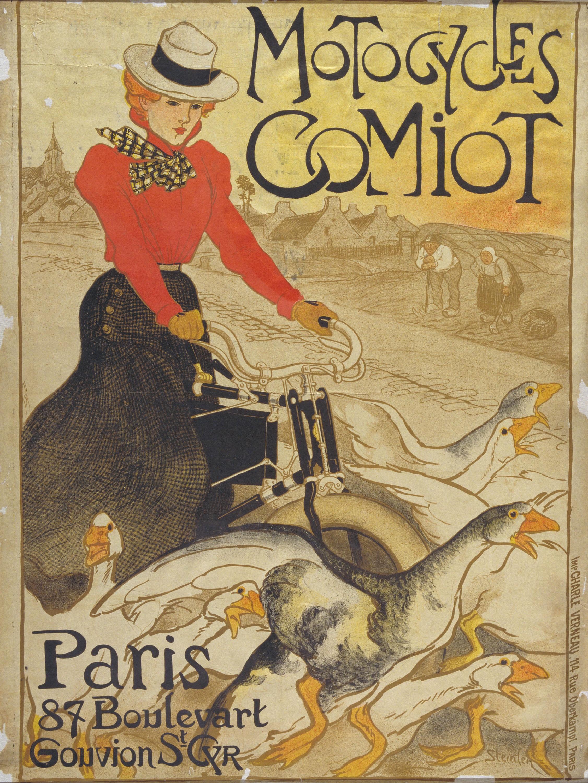 Théophile Alexandre Steinlen - Motocycles Comiot - 1899