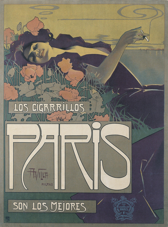 Aleardo Villa - Cigarrillos París - 1901