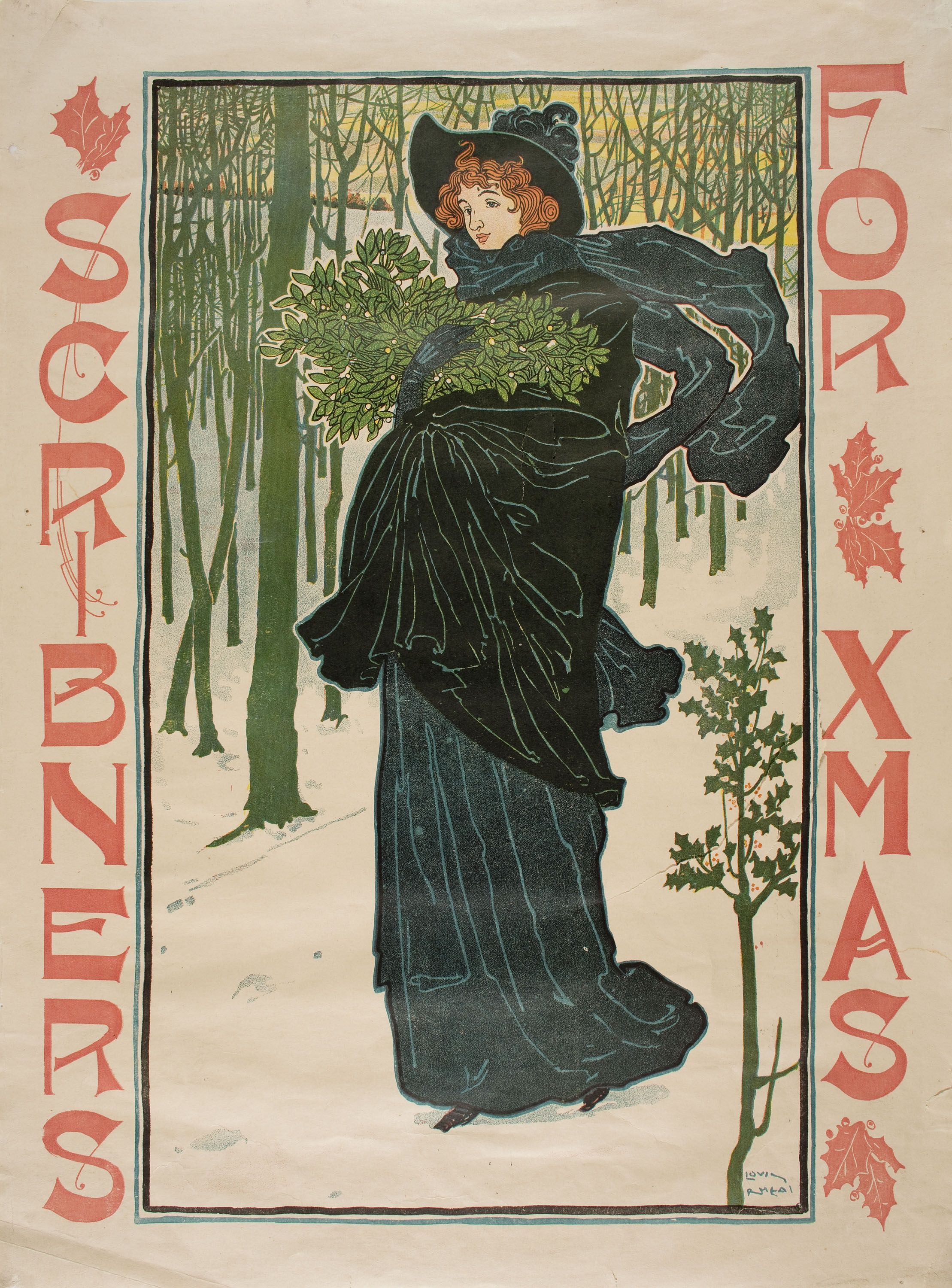 Louis John Rhead - Scribners for Xmas - 1895