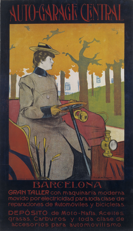 Ramon Casas - Auto-Garage Central - 1901