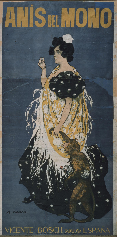 Ramon Casas - Anís del Mono (Mono y mona) - 1898