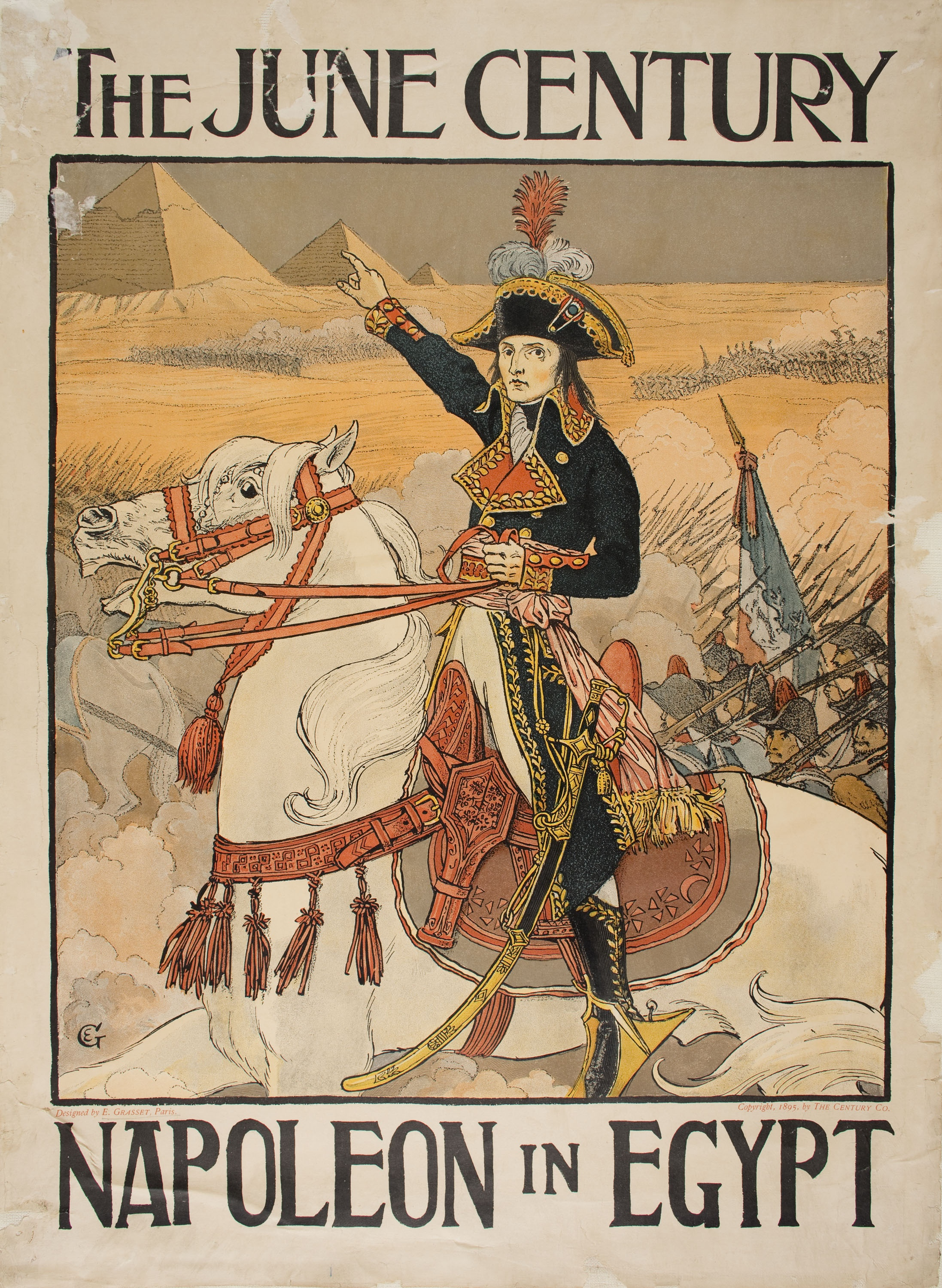Eugène Samuel Grasset - The June Century. Napoleon in Egypt - 1895