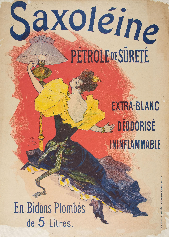 Jules Chéret - Saxoléine Pétrole de Sûreté - 1894