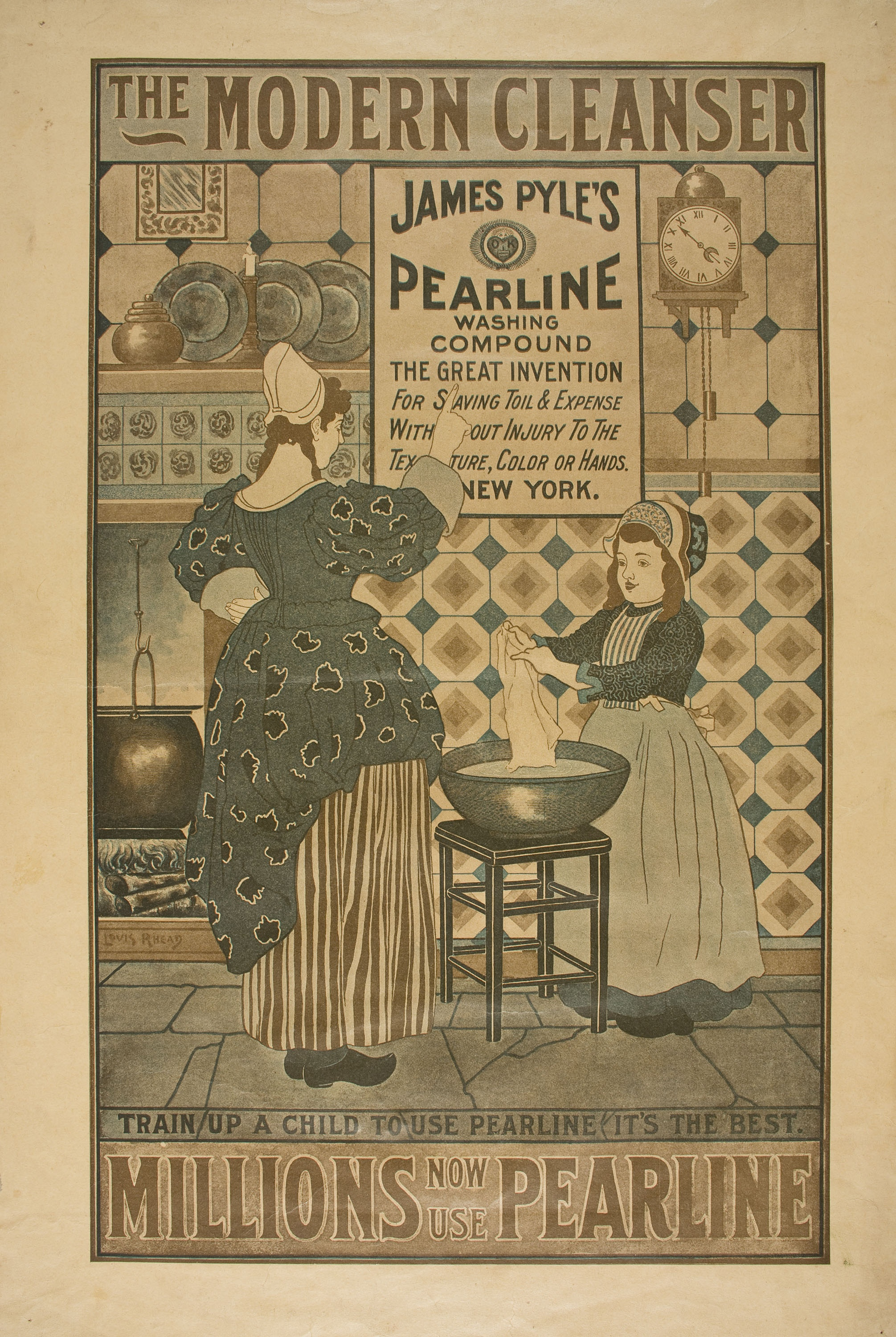 Louis John Rhead - The Modern Cleanser - 1896