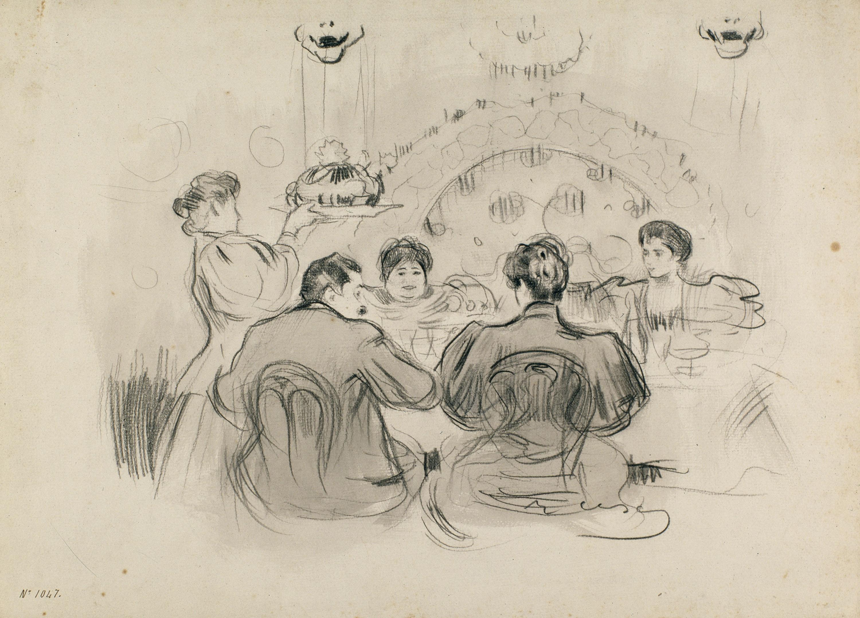 Ramon Casas - Dinner Party - Circa 1898