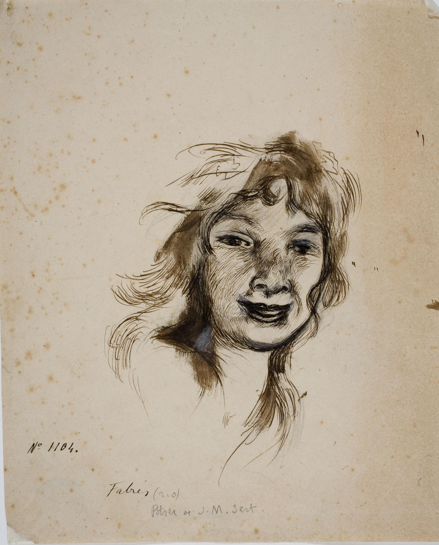 Antoni Fabrés - Retrat de noia - Cap a 1877