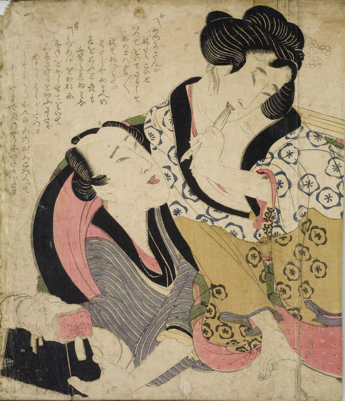 Yanagawa Shigenobu - Després del mizuage [desflorament] - Cap a 1830