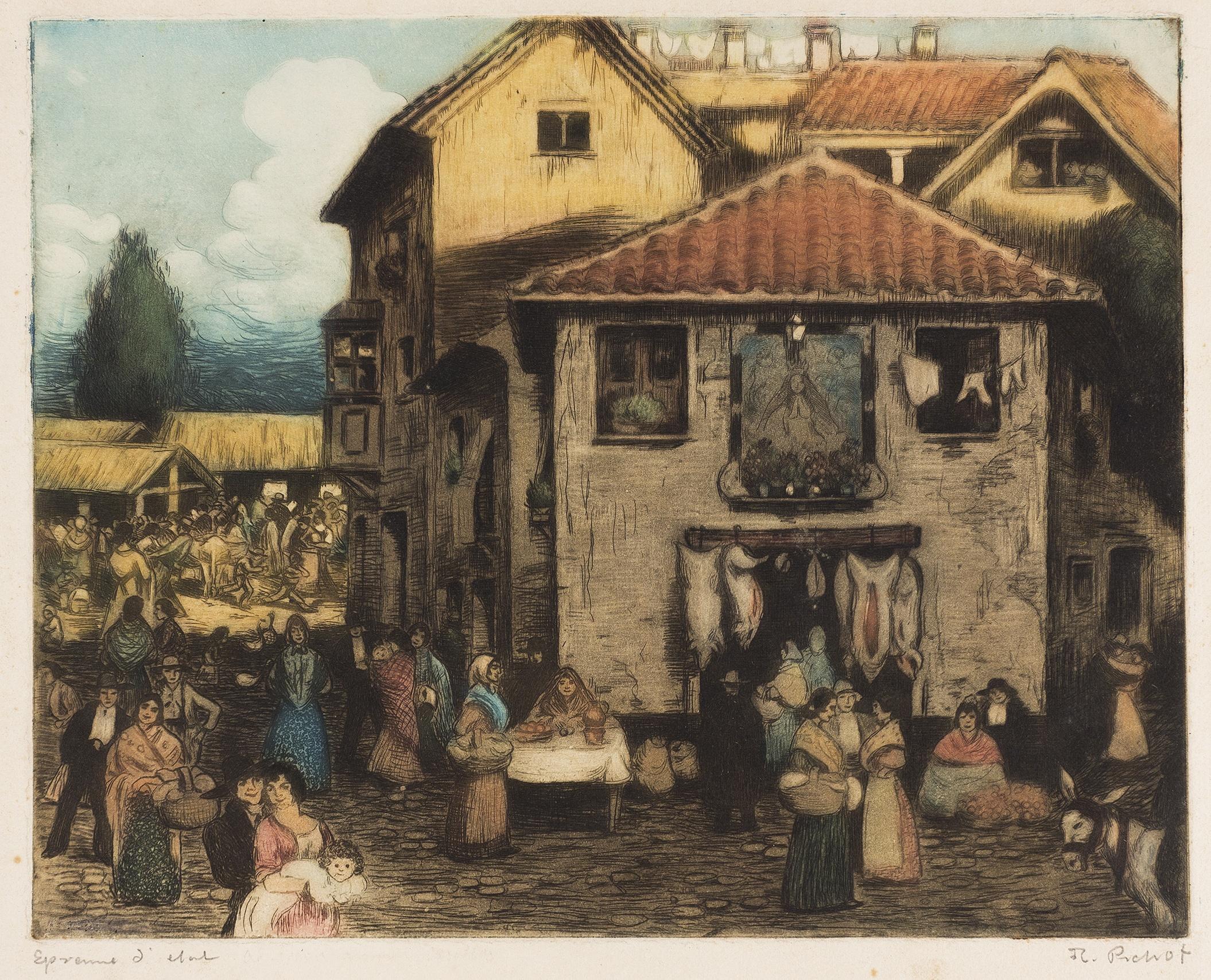 Ramon Pichot Gironés - Market - Between 1906 and 1911